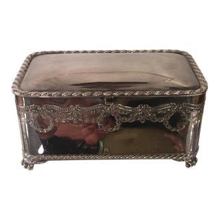 Rare Antique Pairpoint Silverplate Dresser Box For Sale