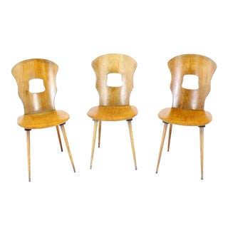 Set of Three Molded Plywood Chairs For Sale