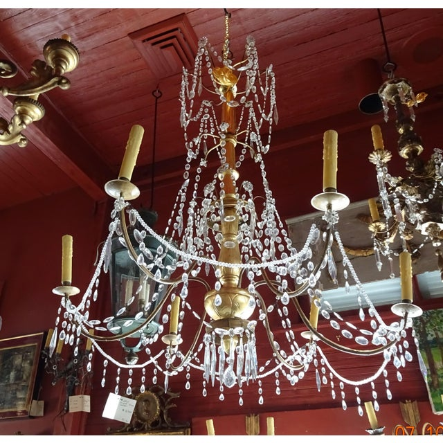19th Century Italian Crystal Chandelier For Sale - Image 13 of 13