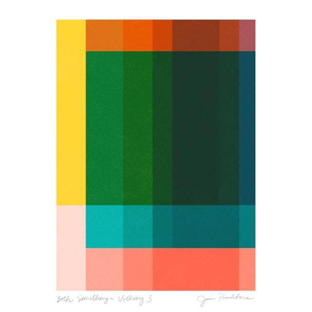 """Not Yet Made - Made To Order Jessica Poundstone """"Both Something & Nothing 3"""" Abstract Art Print For Sale - Image 5 of 5"""