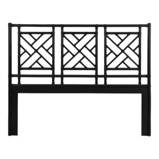 Chippendale Headboard Queen - Black For Sale