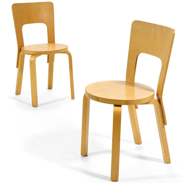 Alvar Aalto Pair of Model 66 chairs For Sale - Image 11 of 11