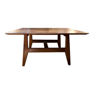 Mid Century Jens Risom Square Walnut Coffee Table 1960's For Sale