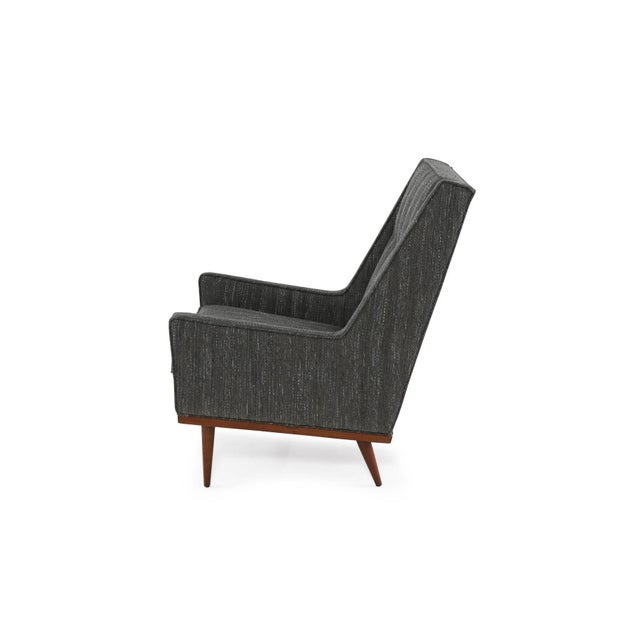 Milo Baughman Pair of Milo Baughman for James Lounge Chairs and Ottoman For Sale - Image 4 of 8