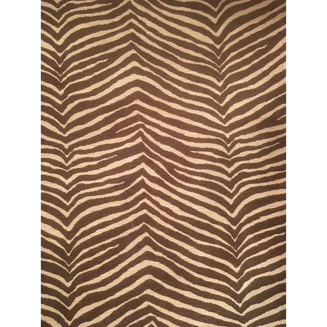 This listing is for zebra patterned decorator fabric from Fabricut. Fabric is sold by the yard. There are 40 yards...