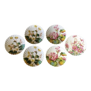 European Porcelain Dessert Plates - Set of 6 For Sale