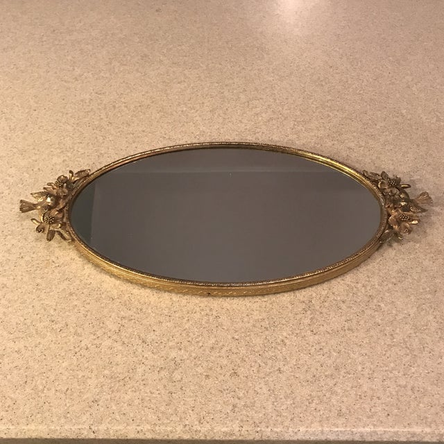 Ormolu Gold Mirrored Vanity Tray - Image 2 of 11