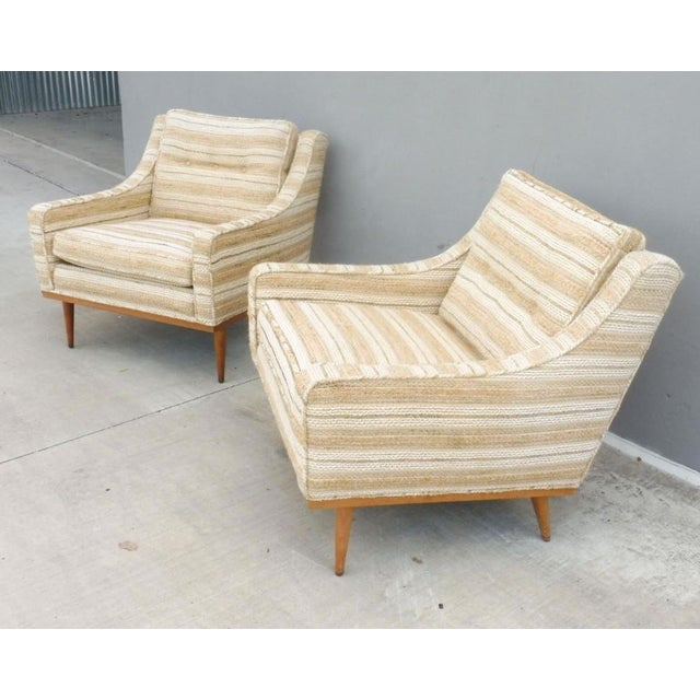 James Inc. 1960s Mid-Century Modern Milo Baughman for James Inc Articulate Lounge Chairs - a Pair For Sale - Image 4 of 11