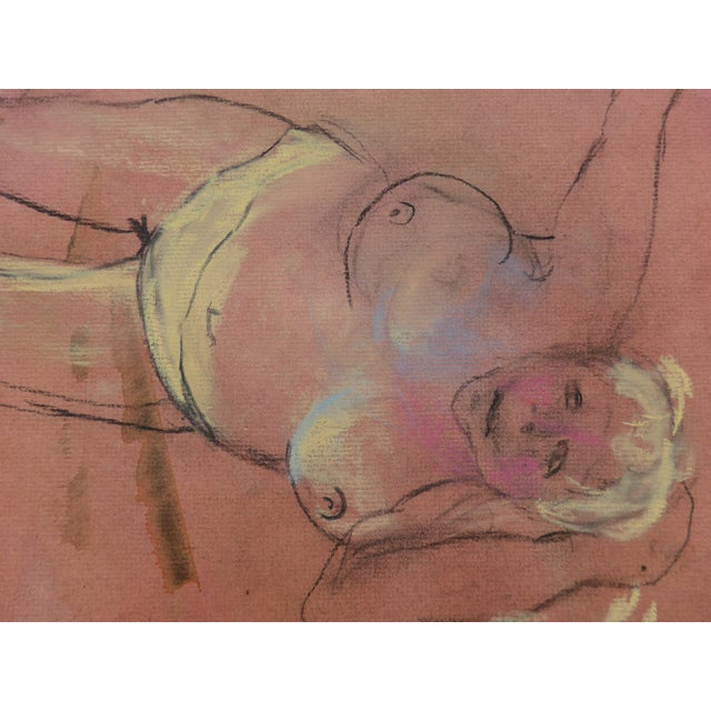 Pastel & Charcoal Drawing of a Woman For Sale In Los Angeles - Image 6 of 7