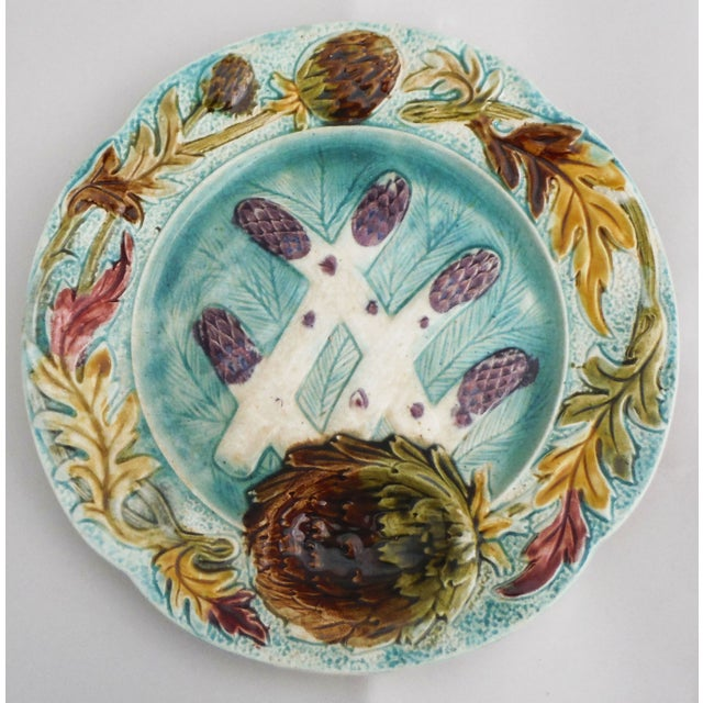 Majolica Asparagus Plate - Image 2 of 3