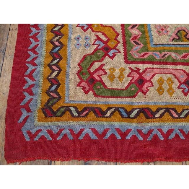 Red Fantastic Antique Oushak Kilim For Sale - Image 8 of 10