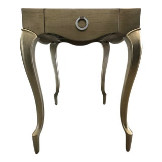 French Caracole Gold/Silver French Side Table For Sale