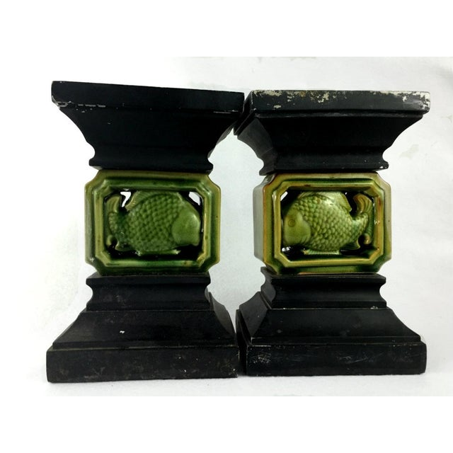 Vintage Ceramic Balustrade Architectural Salvage - a Pair - Image 2 of 11