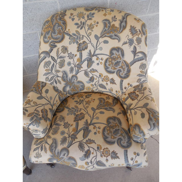 Kravet Furniture Regency Style Accent Club Chairs - A Pair - Image 5 of 11