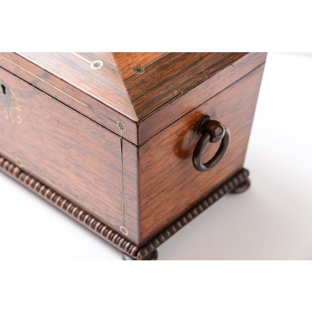 Early 19th Century Regency tea caddy For Sale - Image 5 of 11