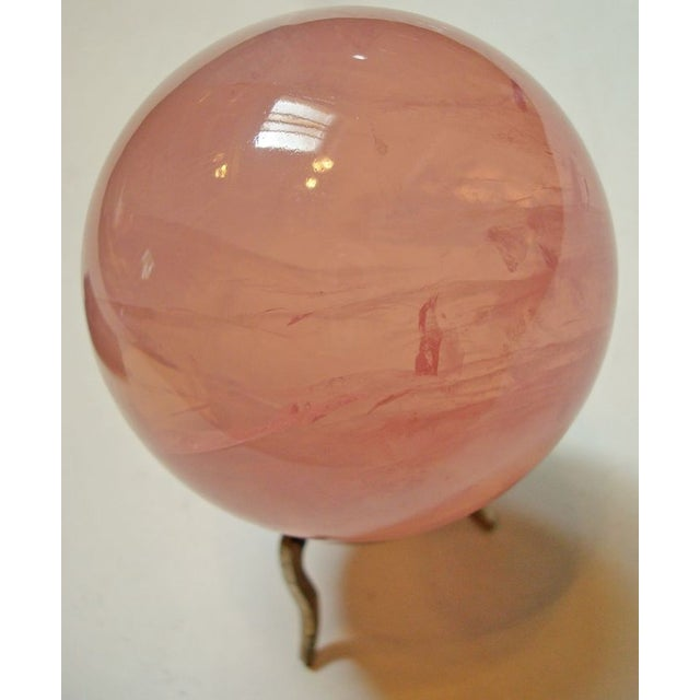 Star Rose Quartz Crystal Sphere - Image 3 of 6
