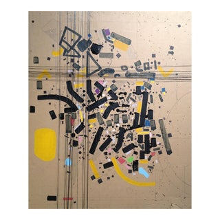 """Contemporary Abstract Acrylic Painting """"Engeert N1"""" by Philippe Halaburda For Sale"""