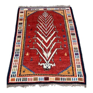 "1960s Vintage ""Nezih"" Gabbeh Rug- 4'9""x6'2"" For Sale"