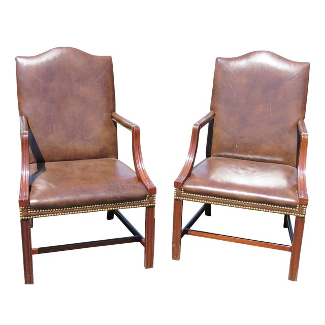Directoire Style Arm Chairs- A Pair For Sale