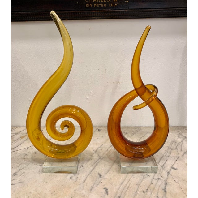 Venetian Murano Glass Sculptures - a Pair For Sale In New York - Image 6 of 6