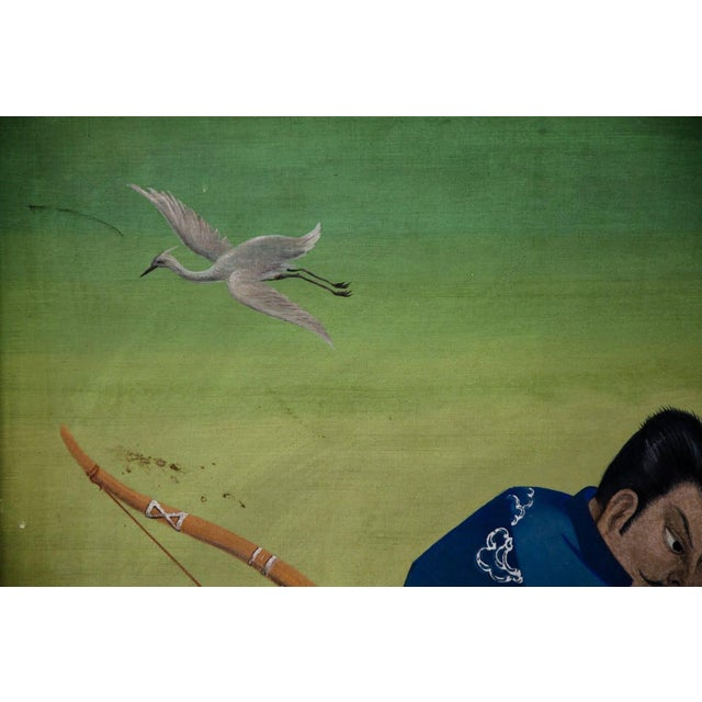 L. Valdemar Fischer Samurai Oil on Canvas Painting For Sale - Image 4 of 13