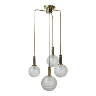 Four Globe Pendant Light by Doria For Sale