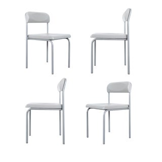 One of Seven Ettore Sottsass Greek Chairs Grey Bieffeplast, Italy, 1980 For Sale