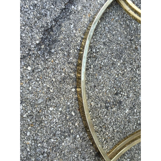Crescent Base Brass Cocktail Table - Image 6 of 6