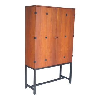 Milo Baughman Walnut Cabinet for Directional