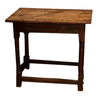 English Oak Side Table For Sale