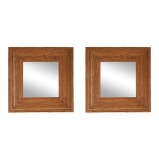 Vivai Del Sud Pair of Rattan Mirrors - 1970s For Sale