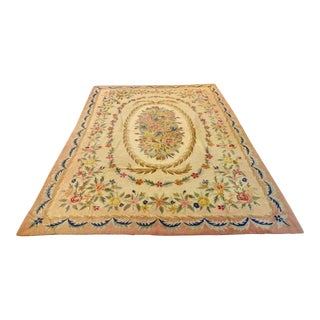 Early 20th Century American Large Hooked Rug