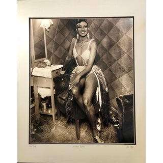 1927 Josephine Baker Sepia Toned Photographic Print Framed For Sale