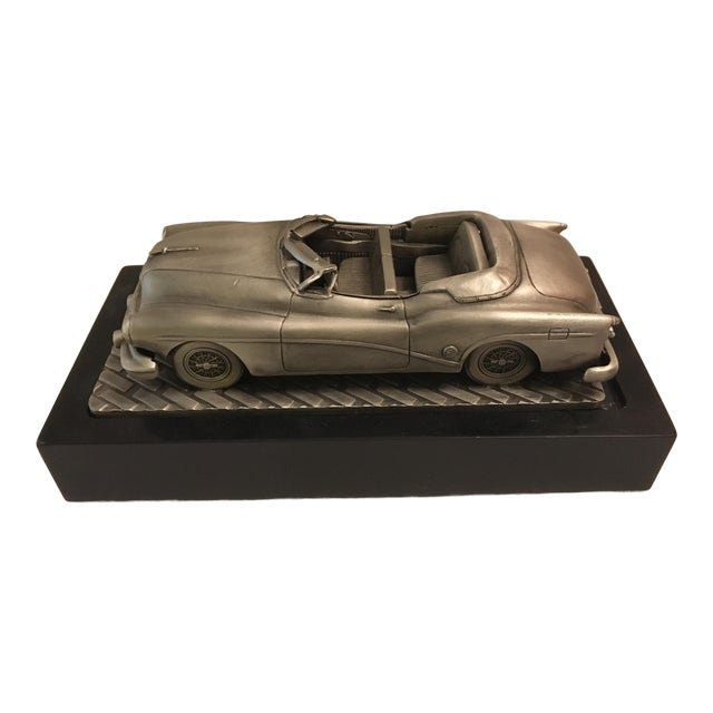 1953 C.Rufo Buick Convertiable Pewter Model Car For Sale