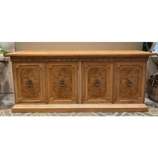 Brown Vintage American of Martinsville Burl Wood Storage Cabinet For Sale - Image 8 of 8