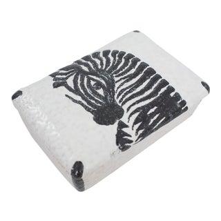 Italian Pottery Zebra Box For Sale