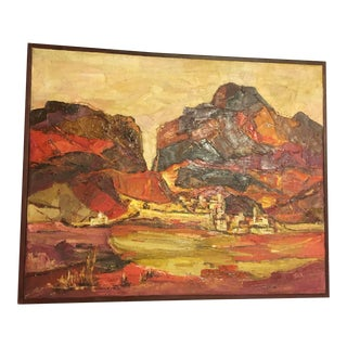 Mid-Century Original Landscape Oil Painting by Tavernetti For Sale