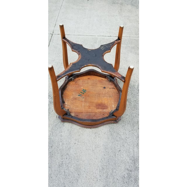 Antique Serpentine Side Table For Sale - Image 9 of 12