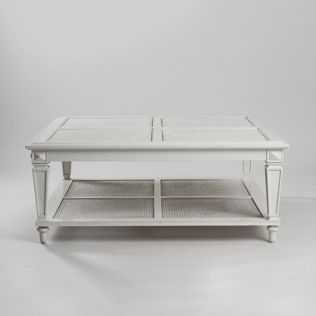 New Caned & Glass Coffee Table - Image 2 of 4
