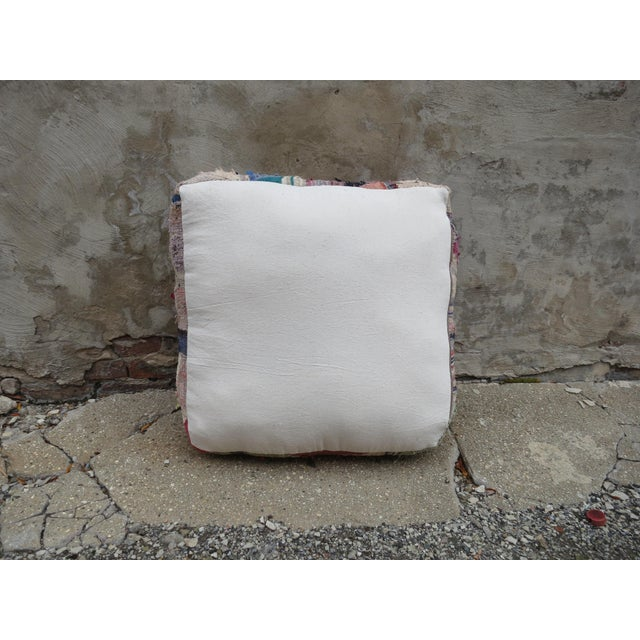Moroccan Floor Pillow For Sale - Image 4 of 4