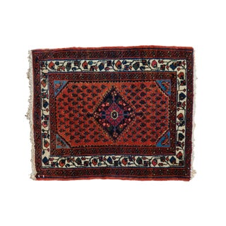 "Vintage Engelas Square Rug Mat - 1'10"" X 2'3"" For Sale"