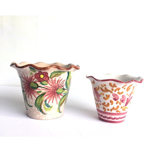 Fratelli Fanciullacci Mid Century Italian Pottery Vases - a Pair For Sale - Image 12 of 12