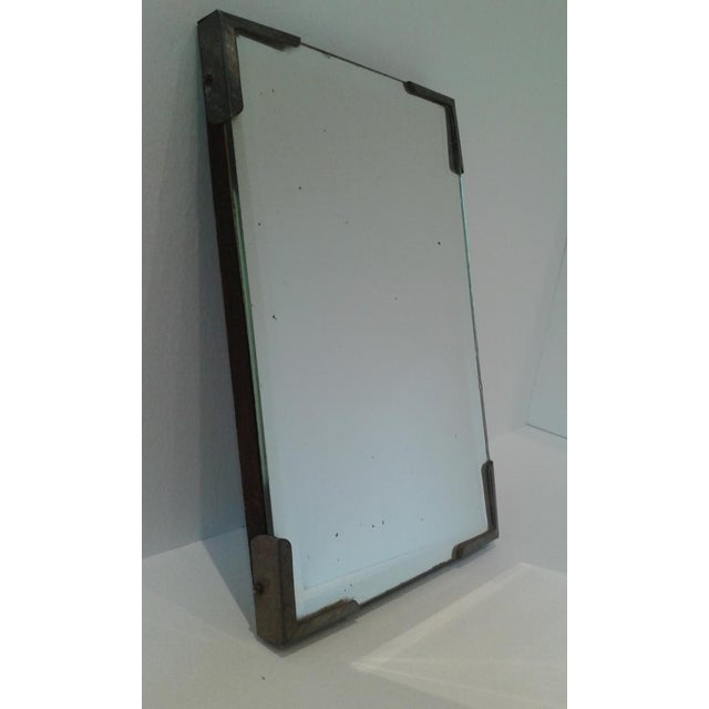 Boho Chic Vintage Beveled Glass Travel Shaving Mirror For Sale - Image 3 of 10