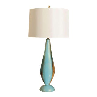Salviati Blue Murano Lamp For Sale