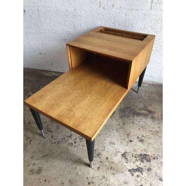 Vintage Mid Century Modern Phone Table by Raymond Loewy for Mengel Furniture For Sale - Image 13 of 13