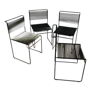 "1970s Vintage Giandomenico Belotti ""spaghetti"" Chairs- Set of 4 For Sale"