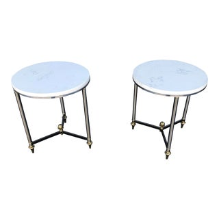 1970s Hollywood Regency Maison Jansen End Tables - a Pair For Sale