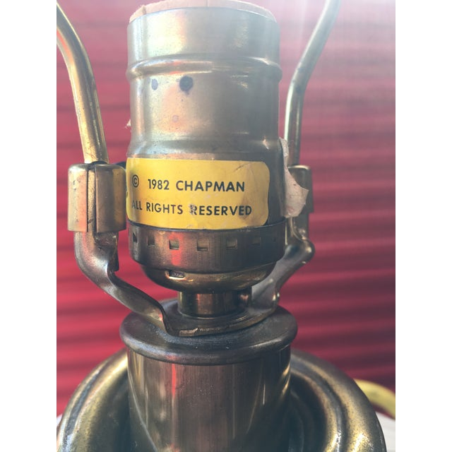 Chapman Manufacturing Company 1980s Vintage Chapman Drappery Hollywood Regency Style Lamps - A Pair For Sale - Image 4 of 5