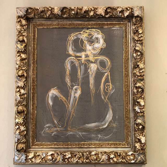 Gray Venetian Nude Painting For Sale - Image 13 of 13