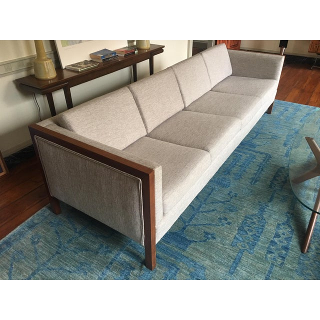 1970s Mid-Century Modern Four Seat Long Sofa by Dux For Sale - Image 5 of 13